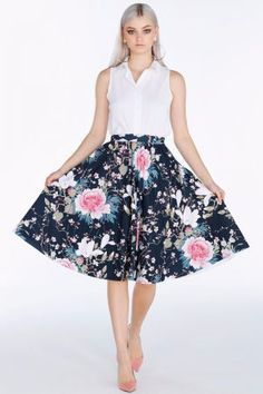 Koson Flowers Vs Blackthorn Cap Sleeve Longline Inside Out Dress - Limited High Waisted Skater Skirt, Black Milk Clothing, A Line Skirts, Midi Skirts, Looking For Women, Fabric Design, Fashion Outfits, Pocket, Clothes For Women