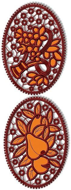 Advanced Embroidery Designs - Fruit and Flowers Cutwork Set
