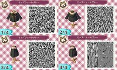animal crossing winter outfit qr code