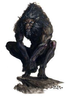 Werewolf by Nordheimer on DeviantArt Fantasy Dragon, Fantasy Art, Goblin, Apocalypse, Of Wolf And Man, Monster Board, Werewolf Art, Beast Creature, Vampires And Werewolves