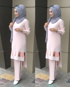 Grey & light baby pink