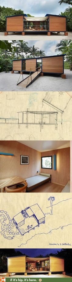 Container House - Originally conceived in 1934, Charlotte Perriands chic beach front holiday home, La Maison au bord de leau, was recreated by Louis Vuitton for Design Miami using the original archival sketches. - Who Else Wants Simple Step-By-Step Plans To Design And Build A Container Home From Scratch?