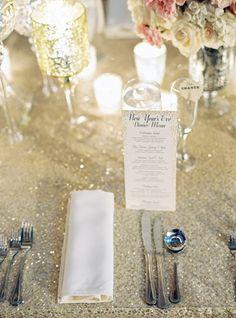 glittery linens | Trent Bailey #wedding