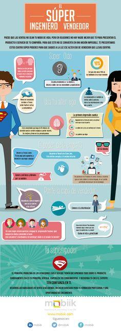 Super ingeniero vendedor #infografía