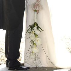 Arum Lily Bouquet simple and elegant. The Flower Studio, Portchester Lily Bouquet Wedding, Lily Wedding, Wedding Flowers, Wedding Decorations, Wedding Ideas, Flower Studio, Color Schemes, Floral Design, Parties