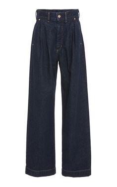 Medium goldsign blue wide leg jeans