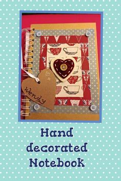 Handmade notebooks using washi tape, paper, buttons created by Reilly-West our Service & Quality manager Service Quality, Handmade Notebook, Decorate Notebook, Washi Tape, Notebooks, Paper Crafts, Buttons, Knitting, Create
