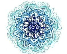 Lotus Ocean Wave Mandala