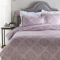 Heather and Amethyst Purple Decorative Elegance Damask Opulent Twin Set -- Want additional info? Click on the image. (This is an affiliate link) #DecorativePillows
