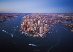 Above New York City by Toby Harriman...