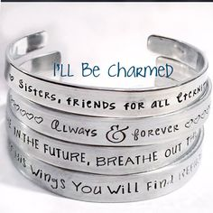 ON SALE Hand Stamped Personalized Bracelet Custom by ILLBECHARMED