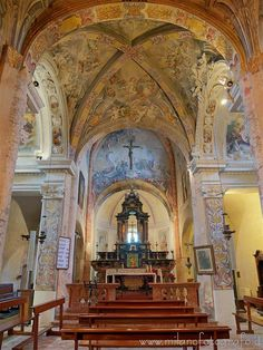 Badia di Dulzago (Novara, Italy) - Interior of the Church of San Giulio