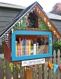 Modern Mrs. Darcy blog: -little-free-libraries built in random spots