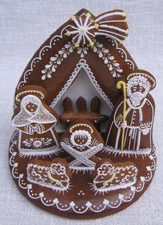 White Christmas Ornaments, Christmas Gingerbread House, Christmas Nativity, Gingerbread Cookies, Christmas Cookies, Fancy Cookies, Cookie Decorating, Advent, Sweets