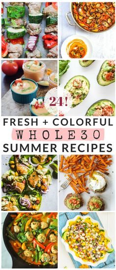 Summer isn't over yet! Enjoy these 24 fresh, colorful, and healthy summer recipes, from grilled salads to stuffed avocados to easy no-cook bone broth gazpacho. Healthy Food Alternatives, Healthy Recipes, Healthy Eats, Avocado Recipes, Detox Recipes, Delicious Recipes, Healthy Foods, Gazpacho, Pesto