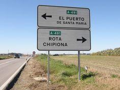 road sign near Rota, Spain