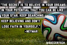 Believe, work hard & achieve! #soccer #inspiration #motivation #futbol #quotes #soccerquote #motivationalquotes #inspirationalquotes