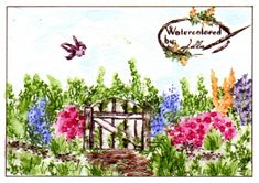 Watercolor garden by jellaverelst - Cards and Paper Crafts at Splitcoaststampers