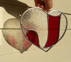 Stained Glass Heart with Letter by MiaMariya on Etsy