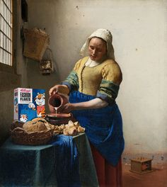 Johannes Vermeer – The Milkmaid, detail. Johannes Vermeer, The Milkmaid Vermeer, Classic Paintings, Girl Reading, Open Window, Bag Sale, Great Artists, Illustration Art, Illustrations