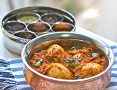 An Indian recipe for a Chettinad-style Egg Curry that is luscious, aromatic and packed full of fiery heat and flavour. Please click on the photo in Yumgoggle to get to this delicious recipe. Enjoy!