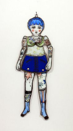 "Le Puppet Regime ""Small Showgirl (with miniskirt + red cheeks)"" 