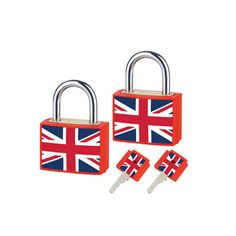 Union Jack Padlocks (Twin Pack)