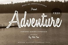 ADVENTURE free Font with extended license