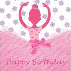 Happy birthday pink ballerina