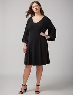 a6c5140ea3ffb Flutter-Sleeve Knit Dress