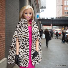 Snapped for #streetstyle outside @Milk Studios! #madefw #nyfw #barbie #barbiestyle