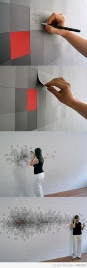 this is it, the interactive piece // I want to do this one but with photographs :-)