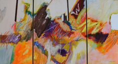 """William Kendall; Acrylic 2013 Painting """"Off of a Wave"""""""