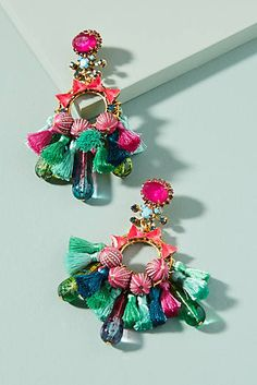 Slide View: Clematis Drop Earrings Source by Luxury Jewelry, Unique Jewelry, Fine Jewelry, Gold Jewellery, Dress Jewellery, Handmade Jewelry, Jewellery Bracelets, Women's Jewelry, Artisan Jewelry