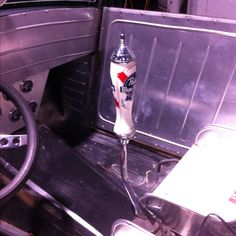 Beer tap shifter handle--find an old stag one and its def going in my 51 ford