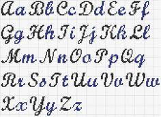 point de croix alphabets - Recherche Google