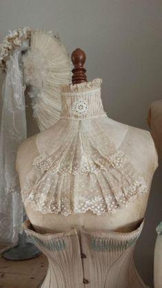 I love this antique lace jabot!
