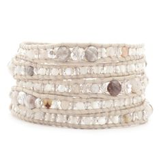 Chan Luu - African Opal Mix Graduated Wrap Bracelet on Petal Leather, $215.00 (http://www.chanluu.com/wrap-bracelets/african-opal-mix-graduated-wrap-bracelet-on-petal-leather/)