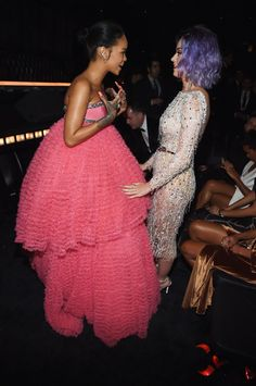 Pin for Later: These Can't-Miss Grammys Moments Weren't on TV Rihanna and Katy Perry