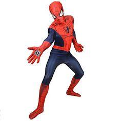 Spiderman Zapper Morphsuit XXL Mens Comic Hero Bodysuit Fancy Dress Costume @ niftywarehouse.com #NiftyWarehouse #Spiderman #Marvel #ComicBooks #TheAvengers #Avengers #Comics