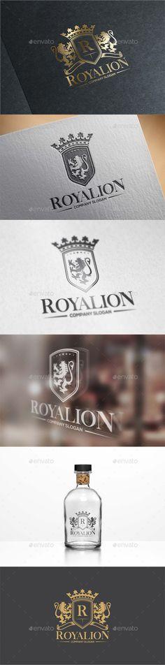 Royal Lion Logo Template #design #logotype Download: http://graphicriver.net/item/royal-lion-logo/13081404?ref=ksioks