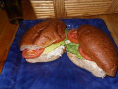 Chicken Salad sandwiches I made for hubby, we now use Flatout wraps....will upload a pic later....maybe one with tuna !~!!~!!!