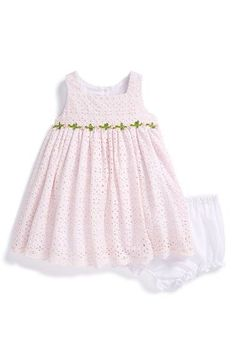 Pippa  amp  Julie Eyelet Sleeveless Dress  amp  Bloomers (Baby Girls)  available at 3527294d4e5