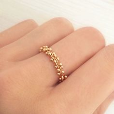 Lovely ring with a dotted gold design.Plated with a thin layer of gold.Available in Gold or Rose Gold, made to order in your chosen size.Matching bracelet available here !Ring size chart : clickhere.
