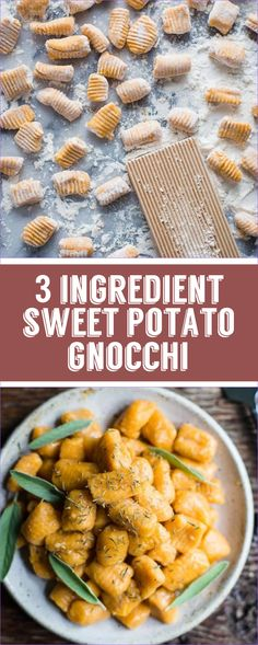 Homemade Sweet Potato Gnocchi- this recipe is VEGAN, GLUTEN-FREE, and requires only 3 simple ingredients to make before dinner is ready!! #plantbased #vegan #italian #sweet potato #healthy