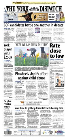 York Dispatch front page for April 3, 2012