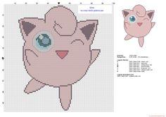 Jigglypuff pokemon first generation number 039 cross stitch pattern