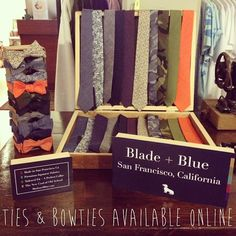 Come & get 'em! @bladeandblue ties & bow ties now available at www.asmblyhall.com • Floral, chambray, polka dots, camo.. Which one is your fave?