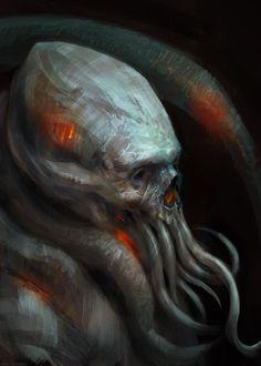 Creature study by Manzanedo Arte Horror, Horror Art, Dark Fantasy Art, Dark Art, Caricatures, Aliens, Lovecraftian Horror, Eldritch Horror, Surreal Photos