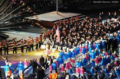 Team USA entering the London 2012 Paralympic Opening Ceremonies